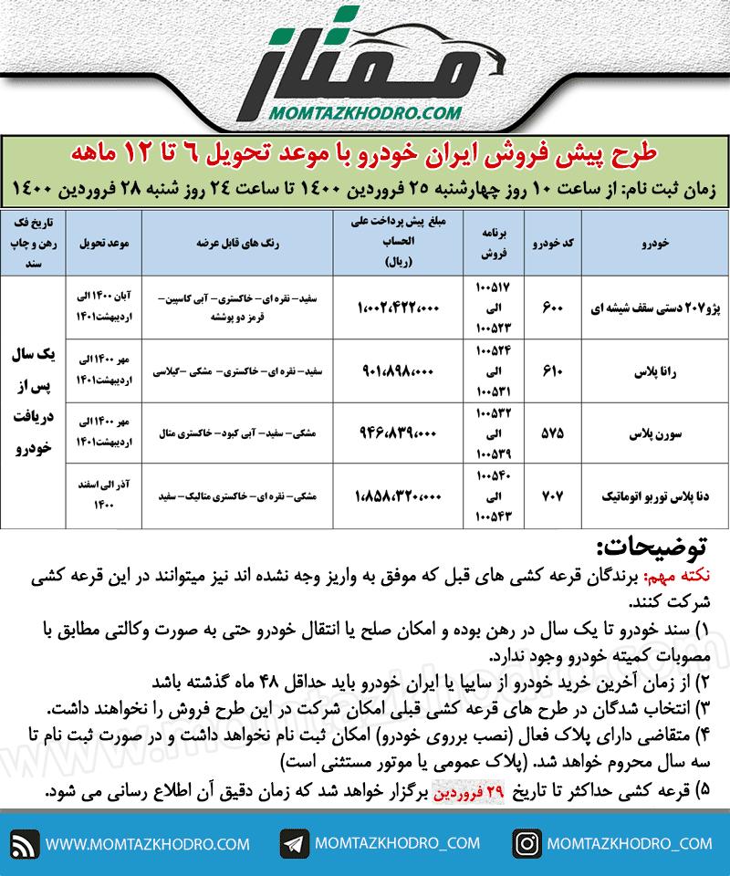 آغاز فروش فوری ایران خودرو به مناسبت نیمه شعبان 1400